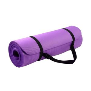 Mat de Yoga/ Pilates Fitness 6mm Con Funda Transportadora Morado