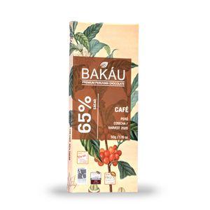 Chocolate Premium en Barra con Café 65% Cacao Bakau®