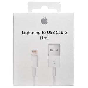 Cable Lightning Apple 1 Metro para iPhone iPad iPod Original Blanco