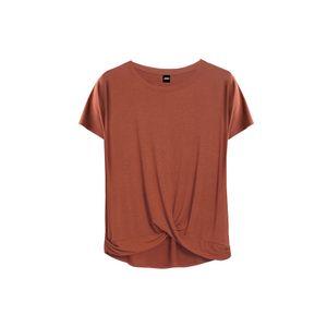Polo de Vestir Drapeado de Viscosa Ago Activewear Lacre