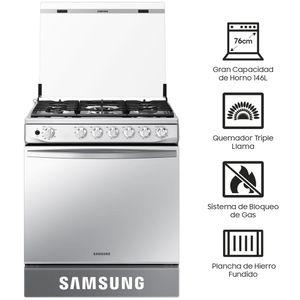 Cocina a Gas SAMSUNG 6 Quemadores NX52T7322PS/PE Mirror Look