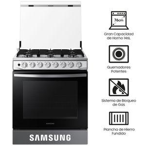 Cocina a Gas SAMSUNG 6 Quemadores NX52T5311PS/PE Inox