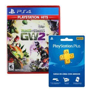 Juego Ps4 Plants VS Zombie Garden Warfare 2 + Playstation Plus Americana 3 Meses