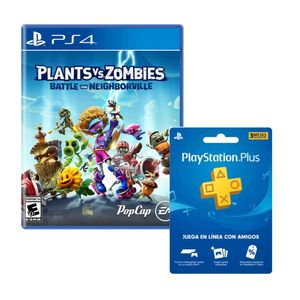 Juego Ps4 Plants VS Zombies Battle Neighborville + Playstation Plus 3 Meses