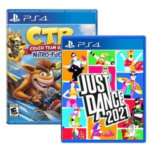 Juego Ps4 Just Dance 2021 + Crash Team Racing