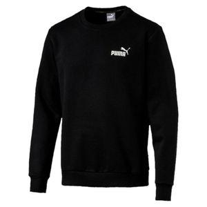 Polera Ess Logo Crew Sweat Fl Negro