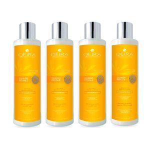Pack Capilar Hidratante Qéira de Quinua Dorada Orgánica 3 Shampoos + 1 Acondicionador