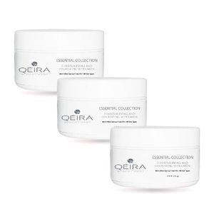 Pack 3 Qéira Crema Facial Orgánica Exfoliante Limpiadora y Purificante Quinoa Blanca y Arroz