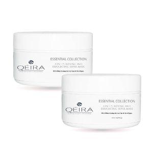 Pack 2 Qéira Crema Facial Orgánica Exfoliante Limpiadora y Purificante Quinoa Blanca y Arroz