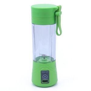Licuadora Portátil Recargable USB 380 ml para Jugos Batidos Juicer Cup Verde