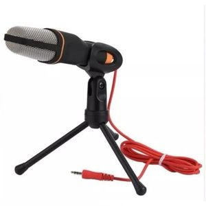 Micrófono Condensador con Mini Trípode Sf666 Profesional Negro
