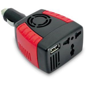 Inversor de Corriente para Auto de 12v a 220v USB 75w Cargador