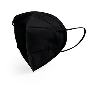 Mascarilla KN95 FFP2 5 Capas Negra x 10 Unidades