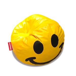 Puff Emoji PuffPerú Feliz Grande Amarillo