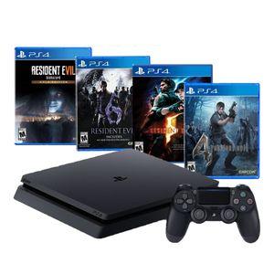 Consola PlayStation 4 Slim 1TB + Saga Resident Evil Biohazard