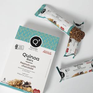 Barra de Quinua Q'Foods Pasas con Chocolate