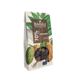Chocolate Premium Bakáu con Macambo 70% Cacao 100g