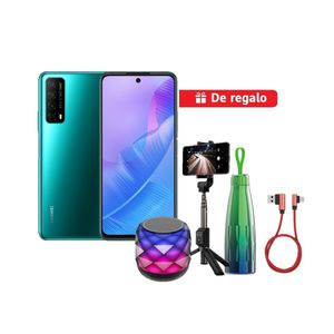 Smartphone Huawei Y7A Green DS + Trípode Bluetooth + Speaker A20 Pro + Thermos + USB C