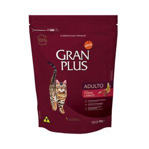 Alimento para Gatos Gran Plus Adulto Carne Y Arroz X 3 Kg