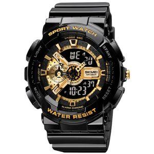 Reloj Skmei 1688 Deportivo Negro con Dorado