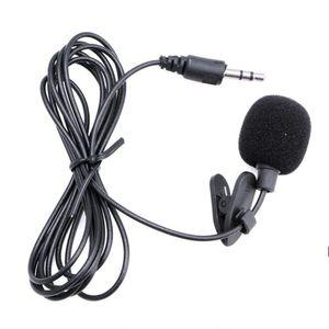 Micrófono de Solapa Lavalier para PC 3.5 Aux Gancho y Funda