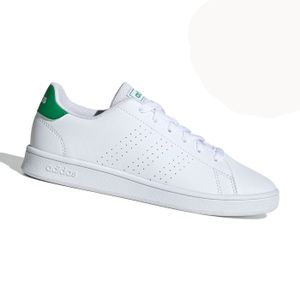 Zapatilla Urbana Adidas Advantage K Pasador Blanco y Verde