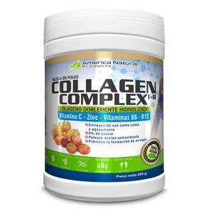 Colágeno 500gr en Polvo con Vitamina C+ Zinc + Vitamina 6 +B12