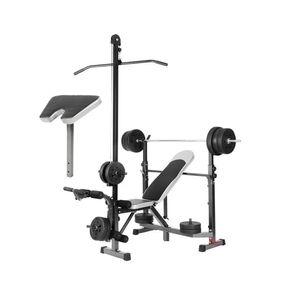Máquina Minigimnasio Multifuncional Gym Press de Banca Predicador Polea