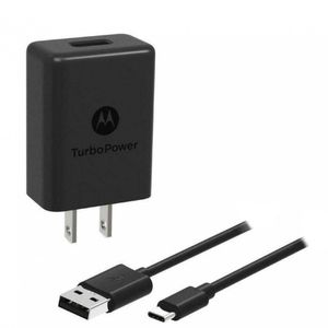 Cargador Motorola Turbo Power 18W Tipo C Fast Charger Color Negro