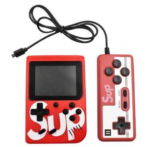 Mini Consola Retro SUP 400 juegos + Mando Adicional 2 Jugadores Rojo
