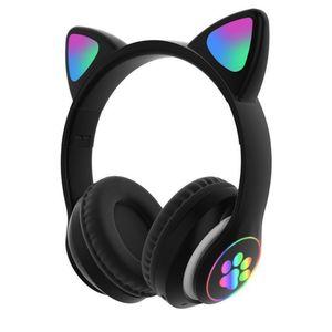 Audífono Auricular Gamer Gato Bluetooth Negro