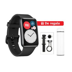 Smartwatch Huawei Watch Fit Negro + Thermo Inox + Selfie Stick + Cable USB-C