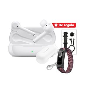 Audífonos Huawei Freebuds 3i Blanco + Band 4e Rosa + Cover + Selfie Stick + Cable USB-C