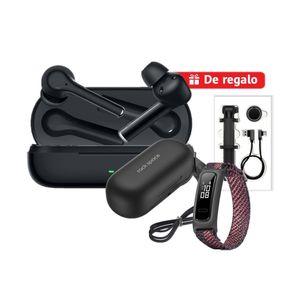 Audífonos Huawei Freebuds 3i Negro + Band 4e Rosa + Cover + Selfie Stick + Cable USB-C