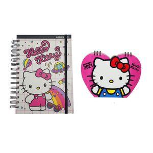 Pack Agenda + Calendario Hello Kitty 2021 Sanrio Kawaii