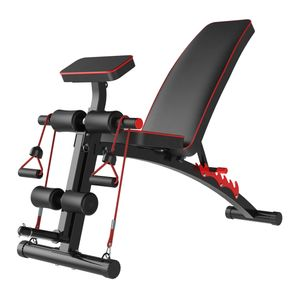 Banca Libre Regulable de Pesas Gym Máquina múltiple Predicador Black Fit 1208 + Ligas