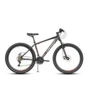 Bicicleta Best Stock c/susp Aro 27.5 Negro/Rojo
