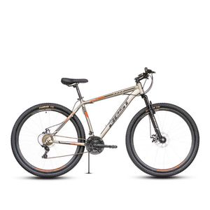 Bicicleta Best Stock c/susp Aro 29 Gris/Negro