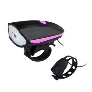 Luz Frontal con Timbre Electrónico para Bicicleta Recargable