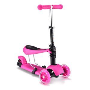 Scooter 3 en 1 para Niños Rosado