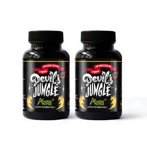 Pack Devils Jungle Hombre Amazon Andes Capsulas 100 x 350mg X 2 Natural y Vegano