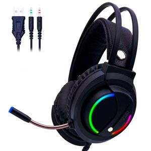 Audífonos Gamer D5000 PRO Luces RGB Free Fire Call of Duty PUGB