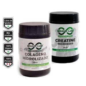 Pack Colágeno Hidrolizado 300g + Creatina con maca negra 300g Alkaline Care