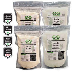 Aceite de Coco 2lt + Harina de Coco 2kg Alkaline Care
