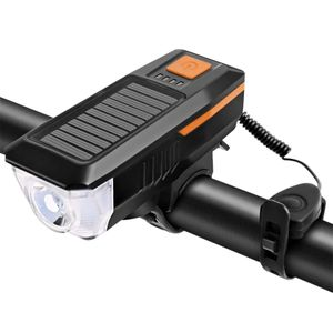 Luz Solar Delantera para Bicicleta - Naranja