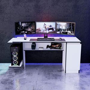 Escritorio Gamer NRO02 Movenda Muebles 167cm Blanco
