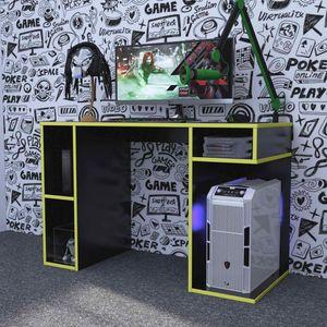Escritorio Gamer NR01 Movenda Muebles Negro con Amarillo