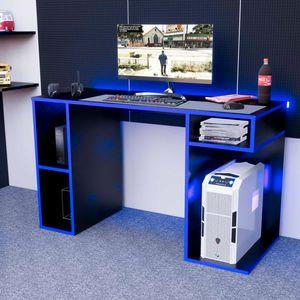 Escritorio Gamer NR01 Movenda Muebles Negro con Azul