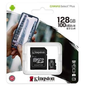 Memoria Micro SD Kingston 128GB Clase 10 100mb/s