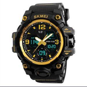 Reloj Skmei 1155 Deportivo Negro con Dorado